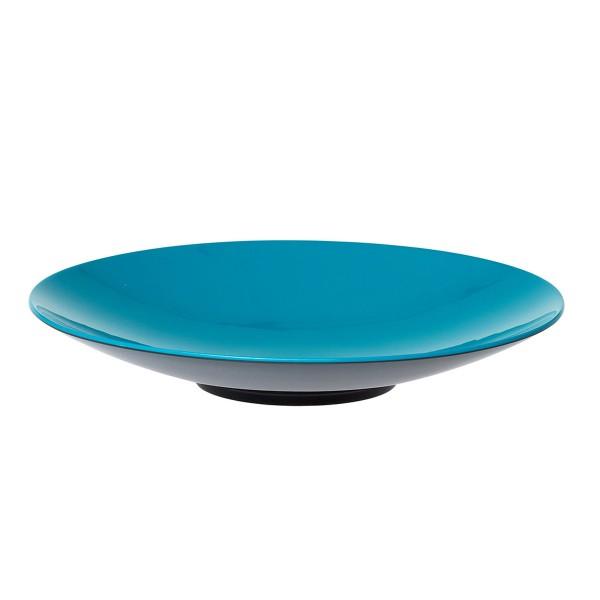 """GIMEX GreyLine """"grau-blau"""" - Pastateller 23cm - bruchfestes Melamin Campinggeschirr"""