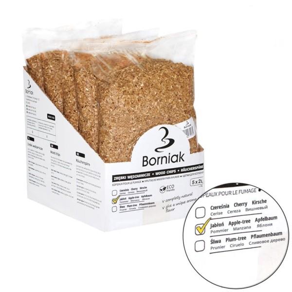 Räucherspäne für Smoker - APFEL - 2 Liter Packung - HACCP zertifiziert