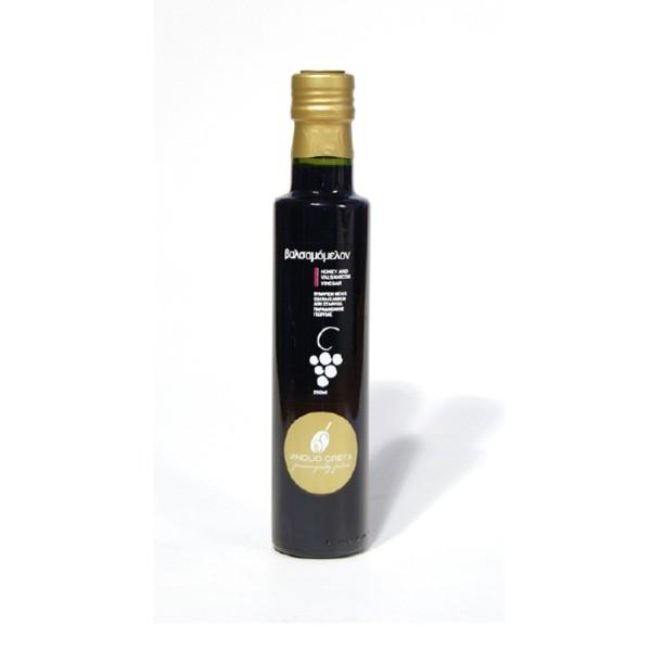 KretaNatura Balsamico Essig verfeinert mit Thymian Honig - 250 ml - aus Kreta