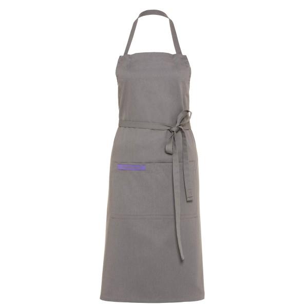 Feuermeisterin Premium Textil Back- und Kochschürze Grau mit 2 Taschen
