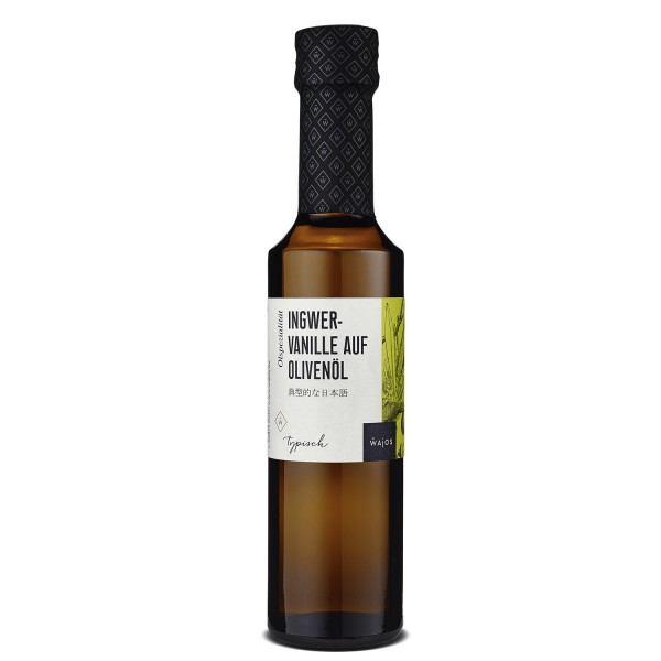 Wajos Ingwer & Vanille Asia-Öl - typisch japanischer Geschmack - 250ml Flasche