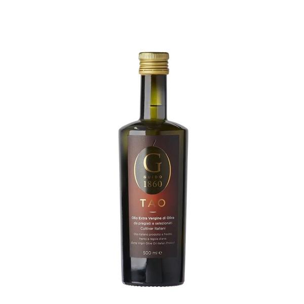 GUIDO1860 - TAO Olivenöl - extra-nativ kaltgepresst - edle Cultivar-Sorten aus Italien - 500ml