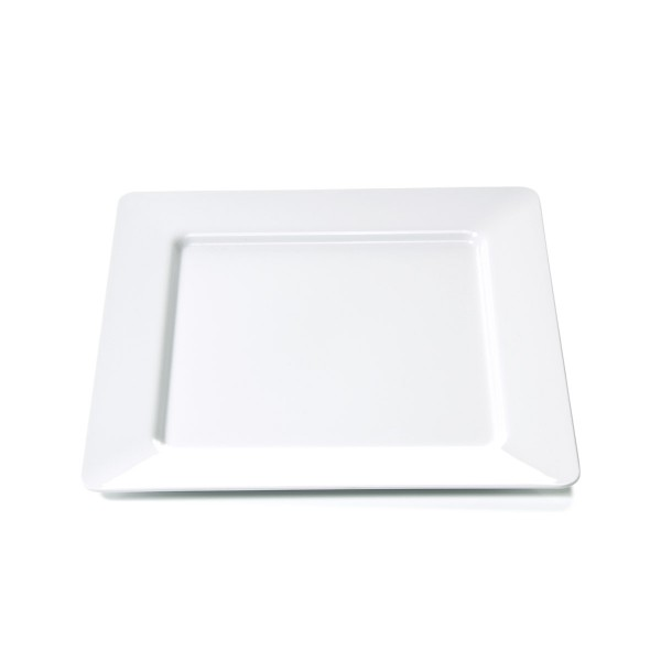 Campingteller SUMMER - Melamin - quadratisch 25 x 25cm- flach - weiß