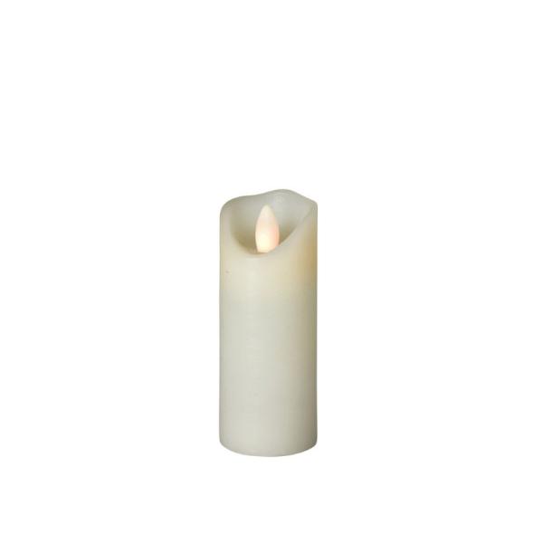 LED Wachskerze SHINE schmal | elfenbein | gefrostet | D: 5cm H: 12,5cm | fernbedienbar | Timer