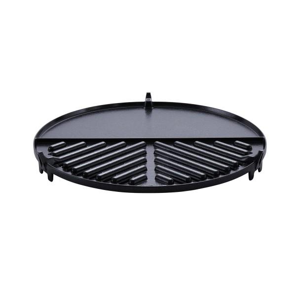 Geteilte Grillplatte BBQ Plancha für CADAC SAFARI CHEF 2 (glatt/geriffelt) - 30cm - GreenGrill