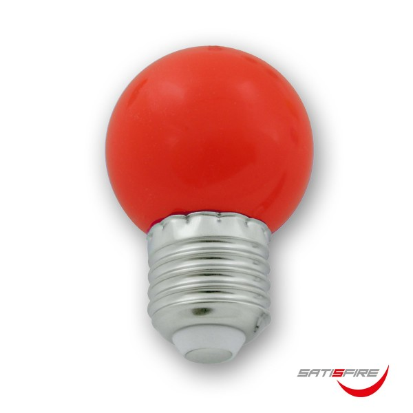 LED Leuchtmittel G45 - rot - E27 - 1W | SATISFIRE