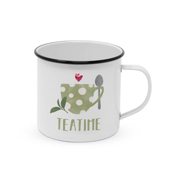 "Metallbecher ""Teatime"" - 400ml Campingbecher"