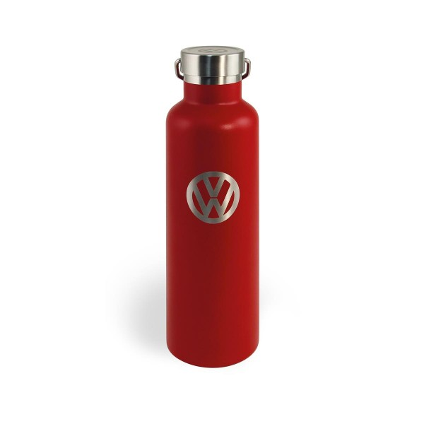 "Thermo Trinkflasche 735ml ""VW Volkswagen rot"" - 18/24h Isolierung - Doppelwandig - 18/8 Edelstahl"