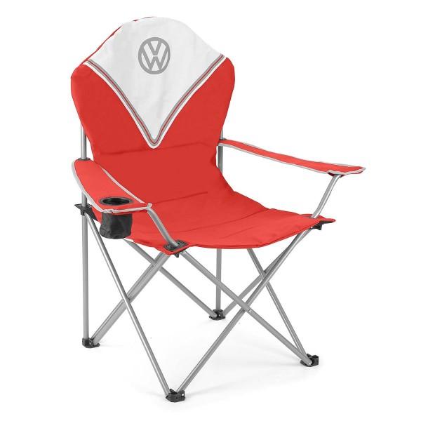 VW Collection - VW T1 Bus Campingstuhl DELUXE rot - faltbarer Stahlrahmen - max 120kg