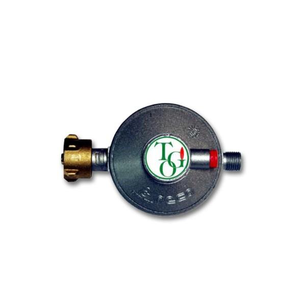 """Gasregler Niederdruck 50mbar - 1,5kg/h - Kleinflaschenanschluss x 1/4"""" links - einstufig - FAHRZEUG"""