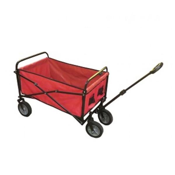 Bollerwagen klappbar rot - 70kg Belastung , 83 x 53 x 110cm - Teleskopdeichsel