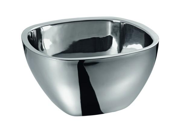 Buffetschüssel - Doppelwandiger Edelstahl für beste Isolierung - ideal für Salate - 26x26cm - 4,4 Liter