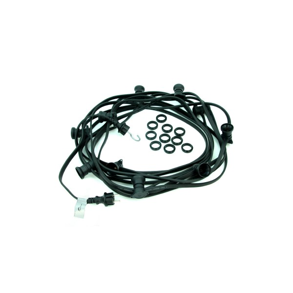 ILLU-Lichterkette 5m - 5xE27 | IP44 | ohne Leuchtmittel | SATISFIRE