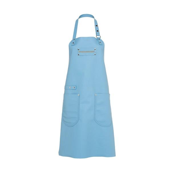 Feuermeisterin Premium Leder Back- und Kochschürze Blau mit 2 Taschen