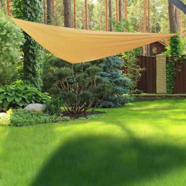 Sonnesegel 3x3x3m Dreieck - beige - 80% UV Schutz - wasserfest