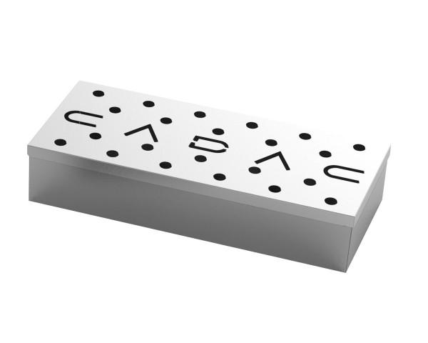 CADAC Smoker Box - Edelstahl Räucherbox 23x9x4cm - für Gas- und Kohlegrills