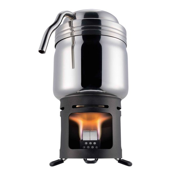 ESBIT Edelstahl Kaffeekocher - mit stabilen Trockenbrennstoff Brenner