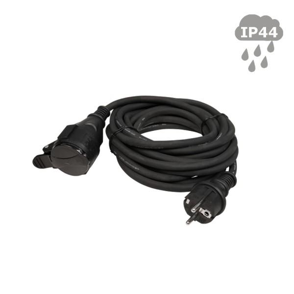 Stromkabel / Verlängerungskabel   Schutzkontakt   Outdoor  3x1,5mm²   5,00m - mit Deckel