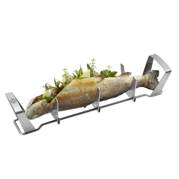 Fischhalter BBQ - Edelstahlgestell für Fische bis 35cm