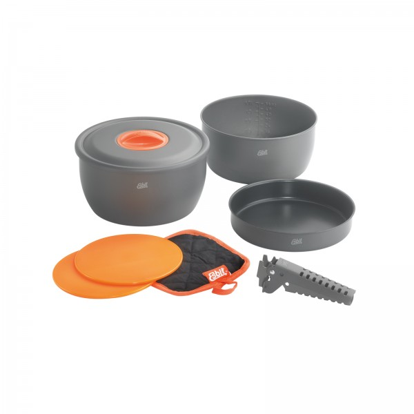 ESBIT Aluminium-Kochset 8-tgl. ohne Antihaftbeschichtung