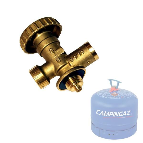 CampinGaz Sicherheitsventil Adapter auf KLF Standardgewinde (W21,8) - Messing