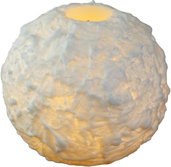 LED-Kerze | Echtwachs | Snowta | flackernde LED | Timer | Weiß | →10.5cm | ↑9cm