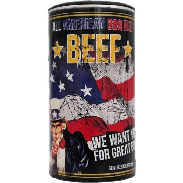 All American Beef, BBQ Rub 350g Streuer