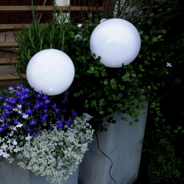 LED-Gartenkugel - Solar Line Outdoor - Erdspieß - →15 x ↑32cm - Warmweiß - Lichtsensor