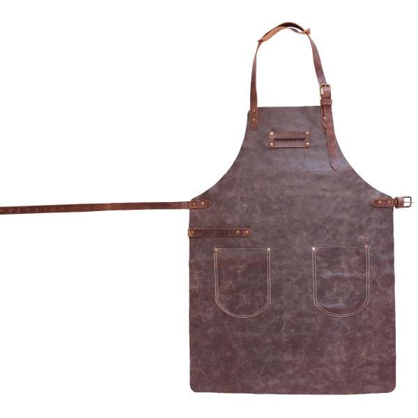 FEUERMEISTER Lederschürze in Antikleder Farbe Anthrazit mit 2 Taschen Größe 1