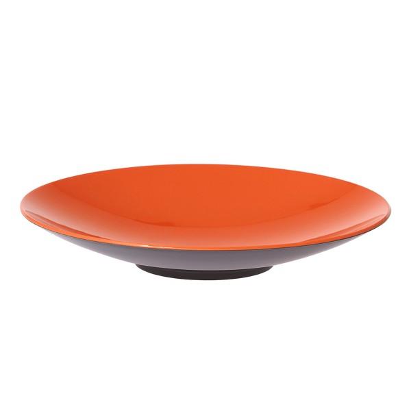 """GIMEX GreyLine """"grau-orange"""" - Pastateller 23cm - bruchfestes Melamin Campinggeschirr"""