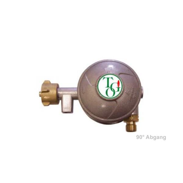 Gasregler zweistufig 50mbar 1kg/h - für gewerbliche Anwendung nach UVV BGV D34 § 11 Abs.3+4 - 90°