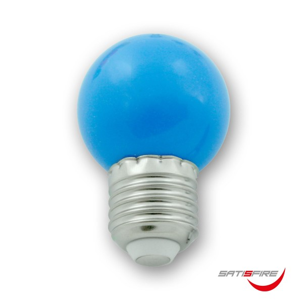 LED Leuchtmittel G45 - blau - E27 - 1W | SATISFIRE
