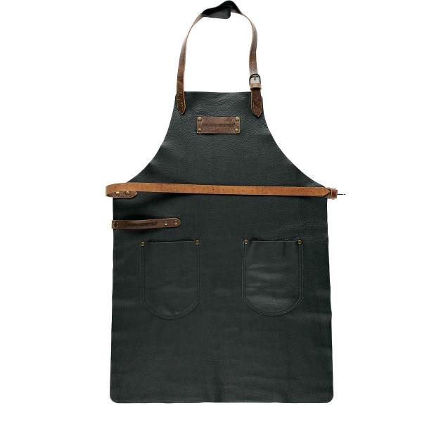 FEUERMEISTER Lederschürze in Nappaleder Farbe Schwarz mit 2 Taschen Größe 3