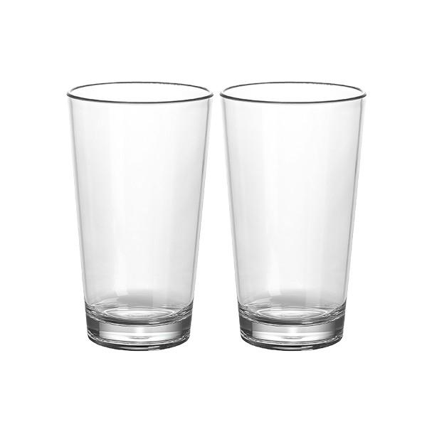 2 x Latte Macciato Glas  aus bruchfestem Polycarbonat - 350ml