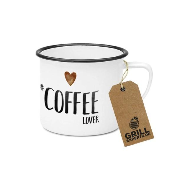"Metallbecher ""Coffee Lover"" - 400ml Campingbecher"