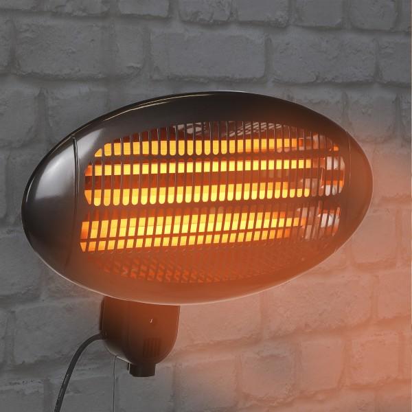 Elektrischer Wandheizstrahler - Thermostatsteuerung - automatischer Überhitzungsschutz - L: 50cm
