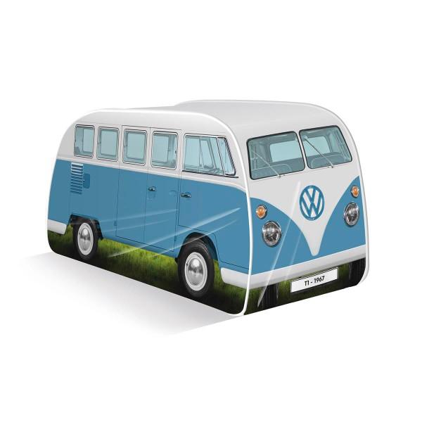 VW Collection - VW T1 Bus - Kinder Pop up Spielzelt - blau