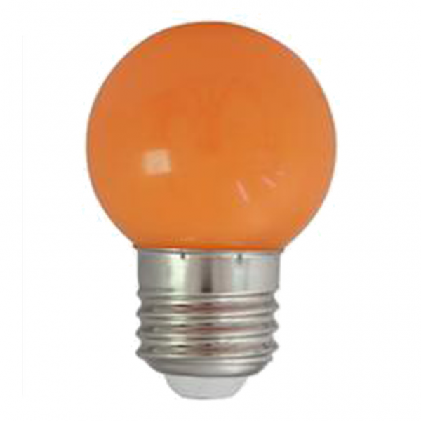 LED-Leuchtmittel | G45 - E27 | 1W | Orange