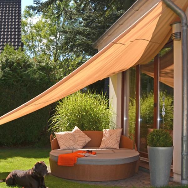 Sonnesegel 5x5x5m Dreieck - beige - 90% UV Schutz - wasserfest