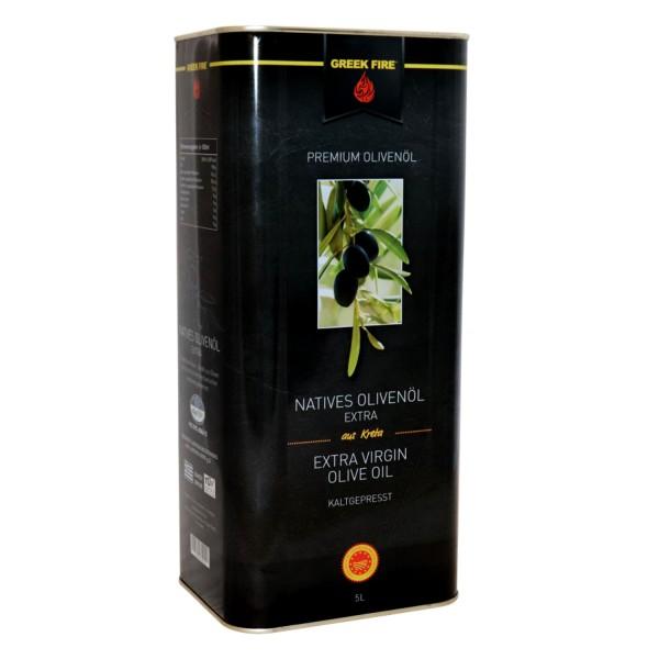 GREEK FIRE 5 Liter Olivenöl Nativ Extra, Kanister