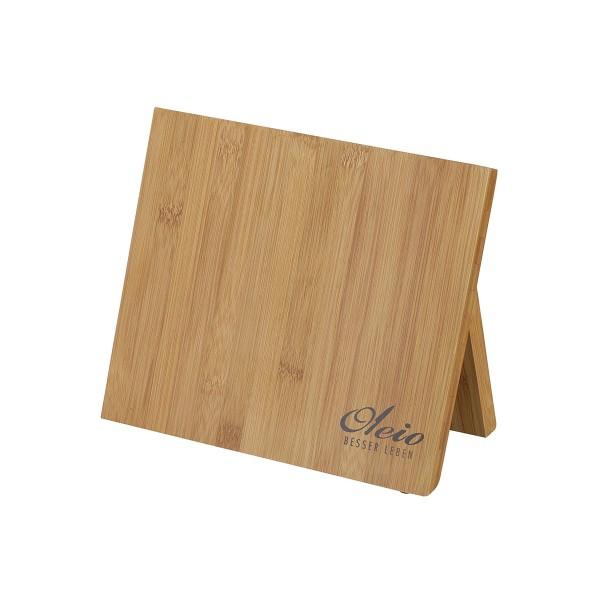 Magnetisches Messerbrett aus Holz - 25x12x21cm - mit Klappfuß - Magnetbrett für 5-6 Messer