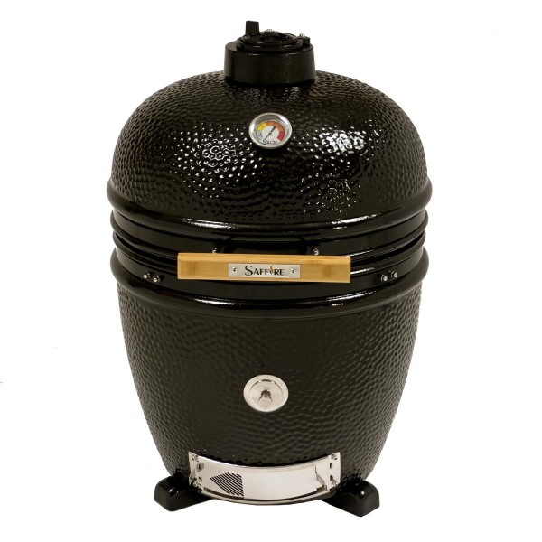 SAFFIRE Kamado BRONZE ONYX BLACK L - Keramikgrill mit Standfüßen aus Edelstahl