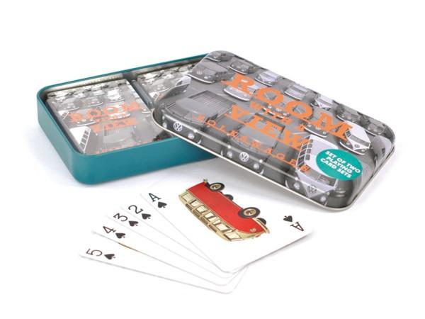 VW Collection Spielkarten Set in Metalldose - 2 Karten Sets (je 52 Karten)