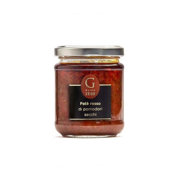 GUIDO1860 - Rote Paste aus Tomate und Oliven - in Premium Öl - 180g Glas