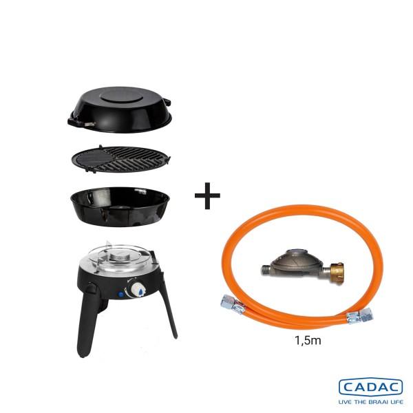 CADAC SAFARI CHEF 2 LITE LP CONNECT KIT - 50mBar - Topfständer, Grillrost, Pfanne/Deckel, Power KIT