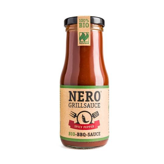 NERO BIO Grillsauce -  Spicy Pepper - scharf-würzig mit feiner Chilinote - 250 ml