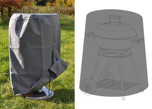Abdeckhaube für Kugelgrills 50cm Durchmesser - 80cm hoch - wetterfestes Polyester