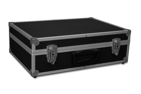 GORANDO® Transportkoffer mit Aluminiumrahmen | 440x300x130mm | Koffer für Werkzeuge, Kameras, Messgeräte etc. | bis 10kg schwarz
