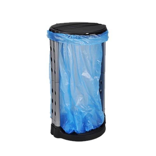 Müllsackständer - Deckel - Kunststoffrahmen - für 120 Liter Müllsäcke
