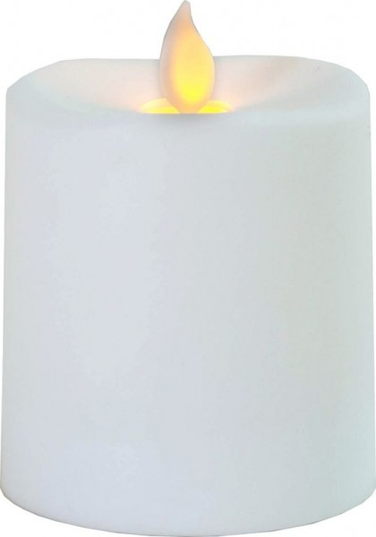 LED-Kerze   Glim   mechanisch bewegte Flamme   ↑8,5cm